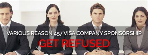 What To Do If Company Refuses To Sponsor Mba by Various Reasons 457 Visa Company Sponsorship Get Refused