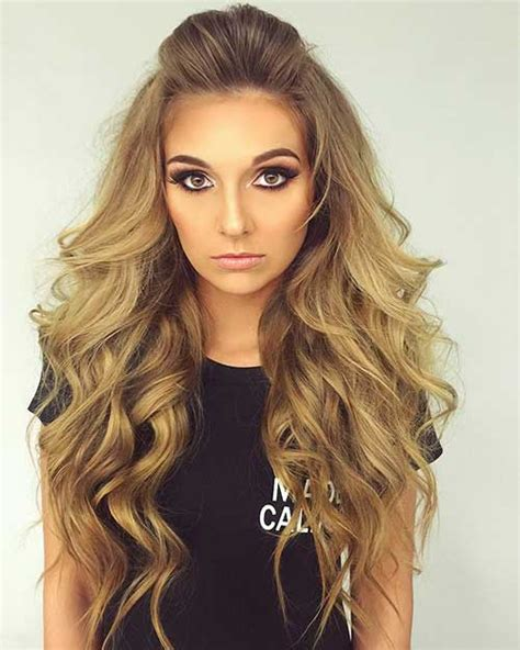 15 half up and half hairstyles hairstyles 2016 2017