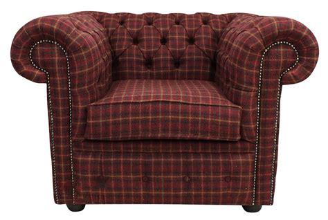 tartan chesterfield sofa tudor 100 wool tweed on back