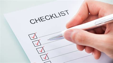 First Home Checklist social media checklist for startup websites