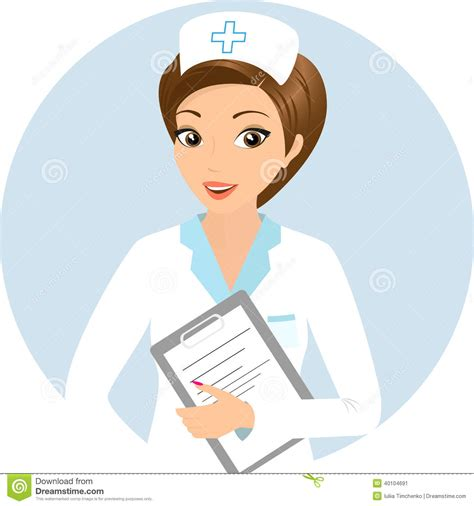 Smiling nurse stock vector. Image of medical, healthcare