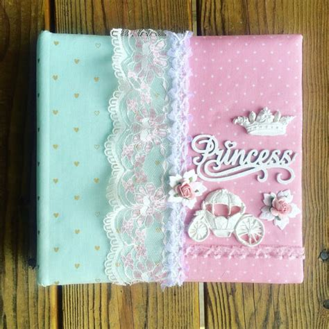 Handmade Baby Album - items similar to princess photo album custom made fabric