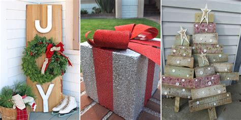 home made outdoor christmas decorations 25 amazing diy outdoor christmas decorations on a budget