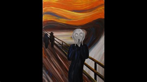 remove acrylic paint on canvas the scream by edvard munch step by step acrylic painting