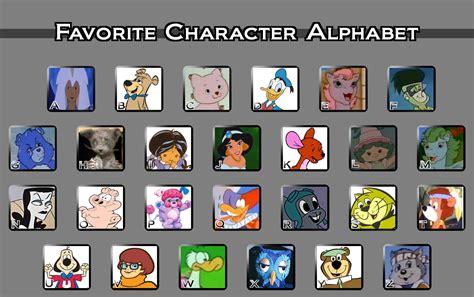 Favorite Character Meme - favorite character alphabet meme by fluidgirl82 on deviantart