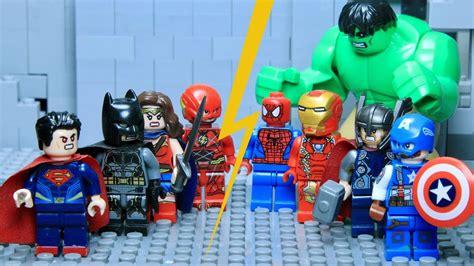 lego movie justice league vs lego justice league vs avengers part 1 hulk vs superman