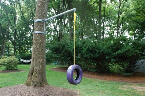 Simple Designed Swing For Tree Made Of Rope And Unused