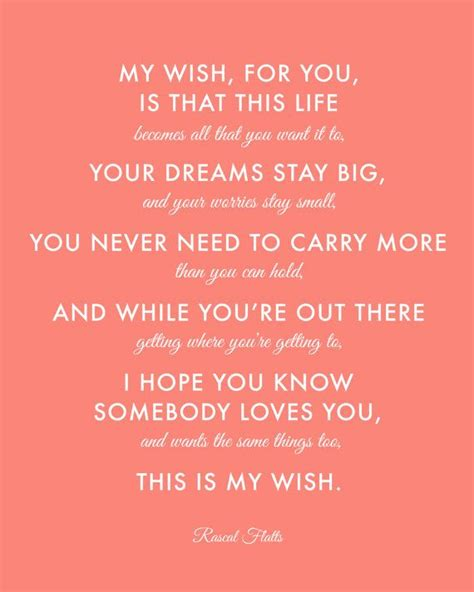 My Wish by Coral Nursery Baptism Gift Rascal Flatts My Wish For
