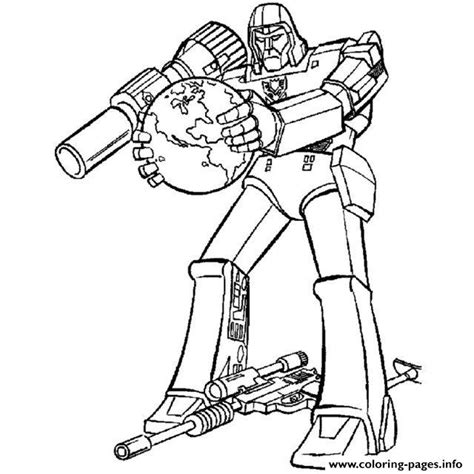transformers megatron coloring page transformer starscream free colouring pages