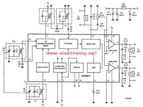 rf receiver inductor am radio receiver circuit using tea5551t monolithic integrated radio