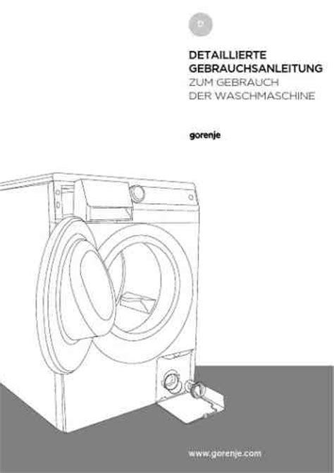 entkalker für die waschmaschine 775 gorenje w7560pwaschmaschinen handbuch in