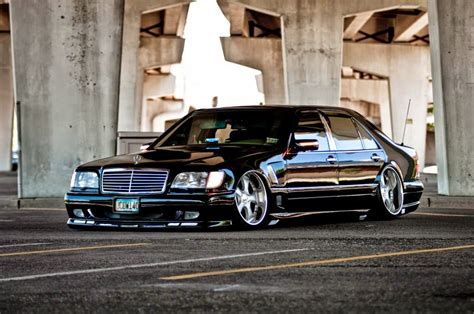bagged mercedes s class mercedes benz w140 s500 vip style benztuning
