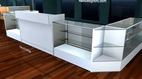 l glass store retail display counter and showcase kiosk avi