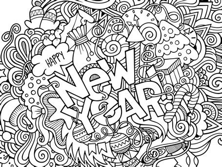 New Year S 2017 Coloring 1 1 1 1 New Years Coloring Pages