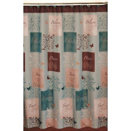 butterfly blessings shower curtain and hook set walmartcom
