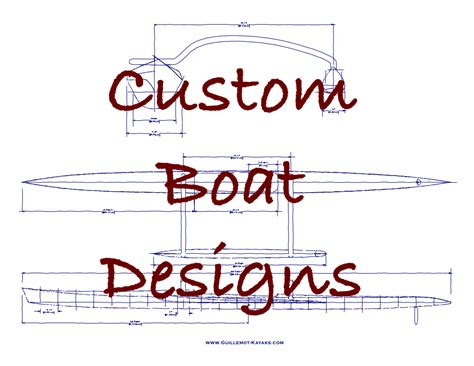 custom plans boat building plans guillemot kayaks small wooden boat