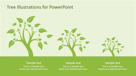 Tree Illustration Diagrams For Powerpoint Slidemodel Tree Template For Powerpoint