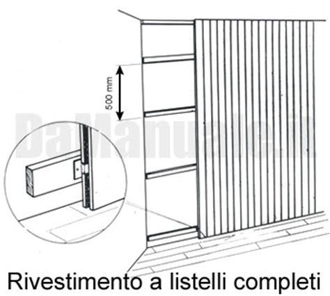 muri rivestiti in legno come rivestire una parete con il perlinato
