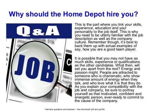 home depot questions and answers