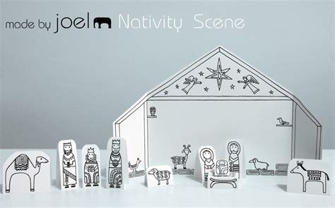 nativity scene printable images search results for paper cutting nativity template