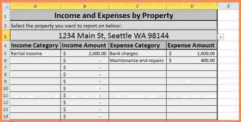 5 Rent Collection Spreadsheet Excel Spreadsheets Group Rental Income And Expense Template