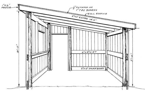 shed roof pole barn plans designs lean wood architecture