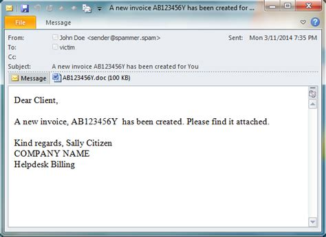 Scam emails distributing malicious MS Office documents