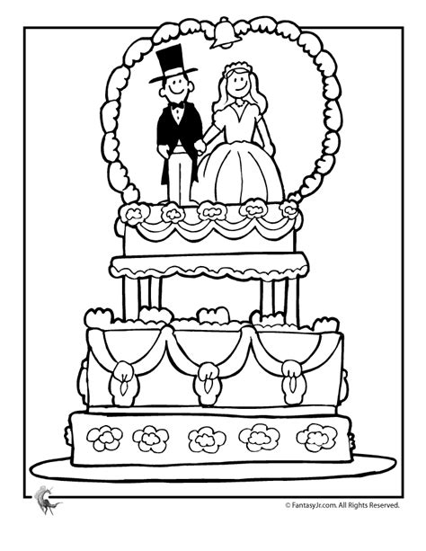 wedding coloring pages wedding cake coloring page