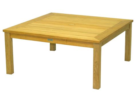 three birds casual newport teak 42 square coffee table