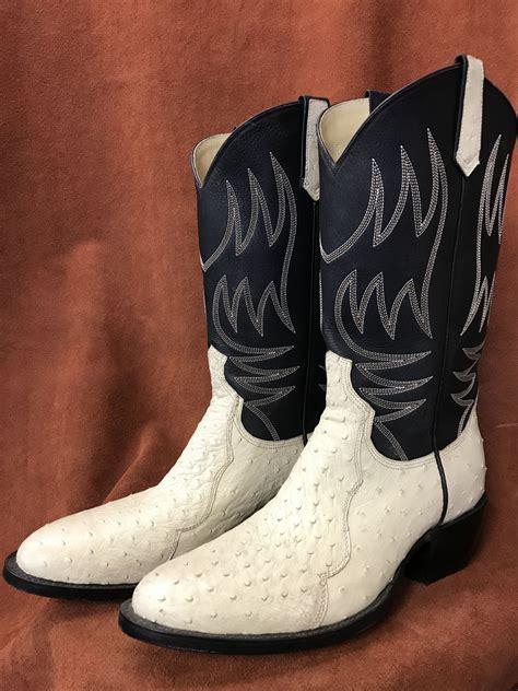 bone colored boots bone colored partial quill ostrich cowboy boots espinoza