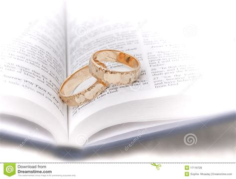Wedding Bible Study by Wedding Rings On Bible Royalty Free Stock Photos Image
