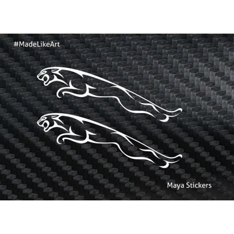 Custom Made Wall Stickers pair of 2 jaguar logo sticker made from high quality