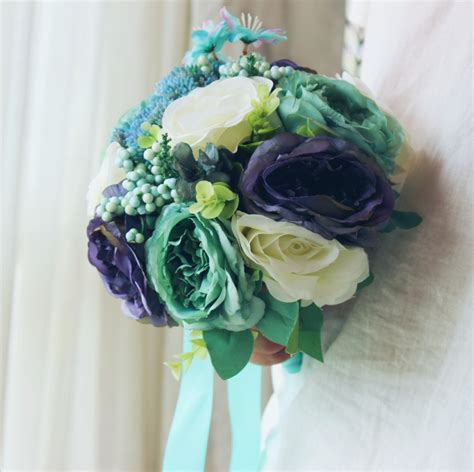 Cheap Wedding Bouquets by Get Cheap Turquoise Wedding Bouquets Aliexpress