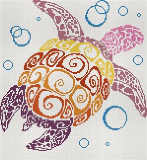 turtles tattoo kit counted cross stitches turtles and counted cross stitch