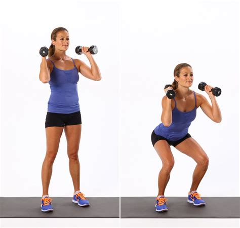 dumbbell squat exercises using dumbbells popsugar