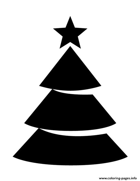 Christmas Tree With Star Topper Silhouette Coloring Pages Tree Topper Coloring Page