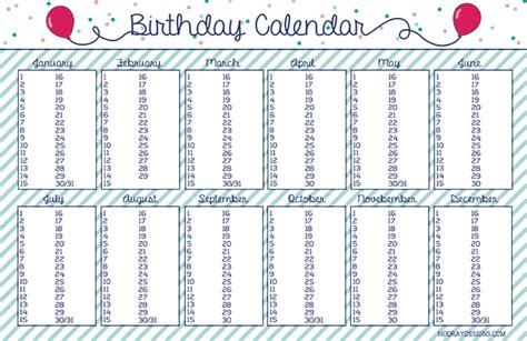 new year calendar birthdays hooray new year s resolution birthday calendar free
