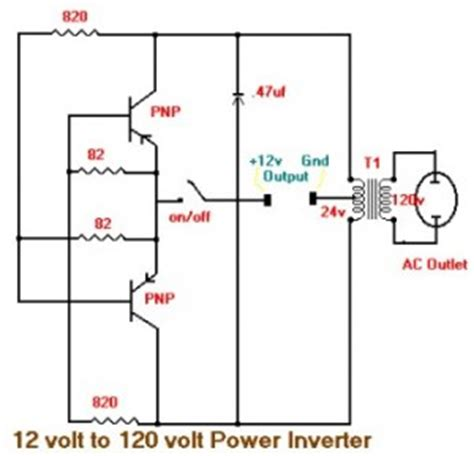 12vdc to 12vac converter circuit diagram 120vac to 12vdc converter schematic