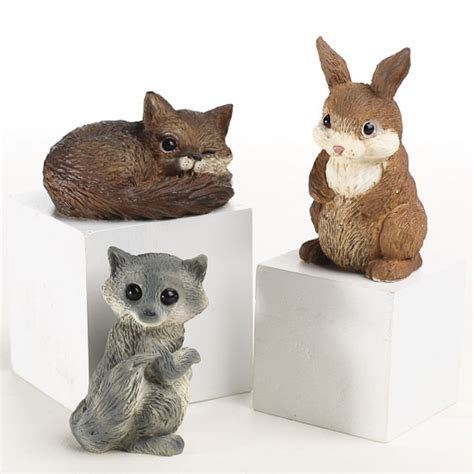 small animal figurines for crafts miniature forest animals garden miniatures dollhouse miniatures doll supplies
