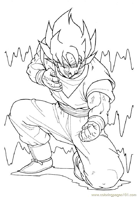 dragon ball z coloring pages to color online coloring pages dragonballz 01 cartoons gt dragon ball z