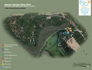 deleon springs florida map deleon springs state park