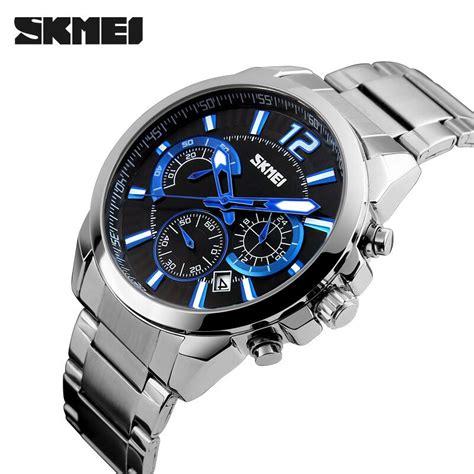 Skmei Casual Stainless 9110cs Silver Berkualitas skmei jam tangan analog pria 9108cs silver black jakartanotebook
