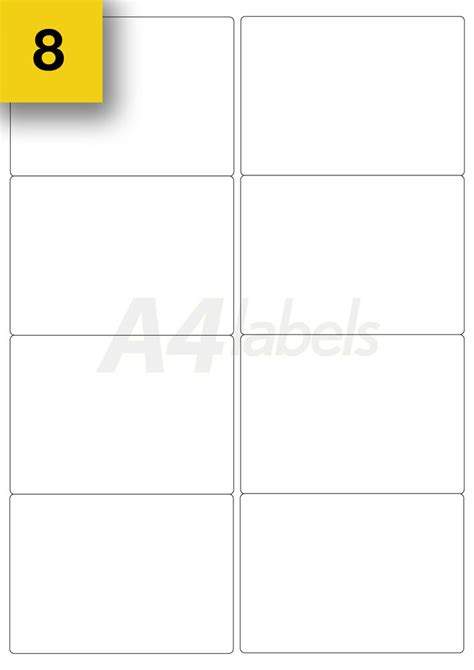Printer Labels 8 Per Sheet