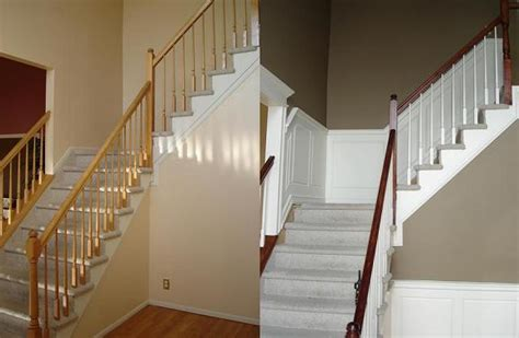 Wainscoting Before And After before and after custom mdf wainscoting