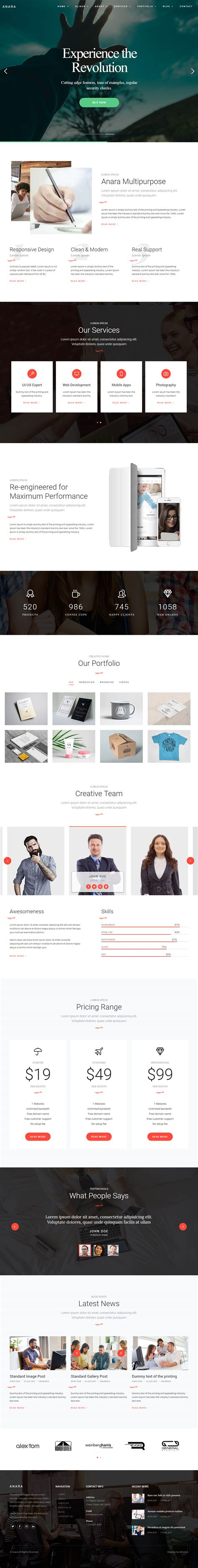 15 Latest Html5 Corporate Website Templates 2018 Responsive Miracle Best Html5 Templates 2018