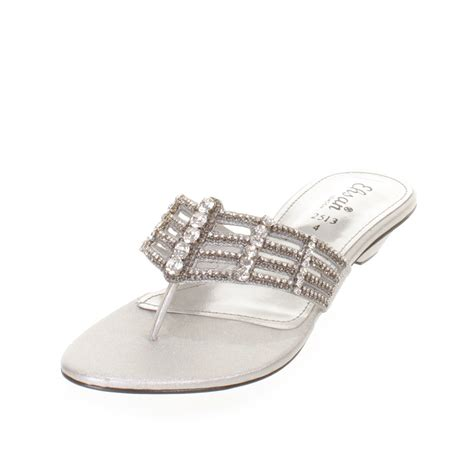 womens flat diamante mule sandals prom shoes