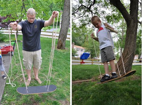 how to make a skateboard swing how to recycle a skateboard into a swing how to instructions