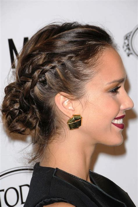prom hairstyles buns to the side prom hairstyles side bun