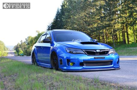 custom lifted subaru 2012 subaru wrx enkei rpf1 air lift performance air suspension