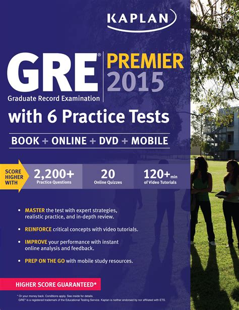 gre prep 2018 test prep study guide book and practice test questions for the ets graduate record examination books gre 174 premier 2015 with 6 practice tests book dvd